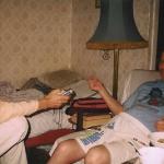 Маму Тхакур берет интервью у Ананта-шанти. Москва, 2004