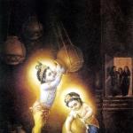 Кришна и Баларама воруют масло и йогурт