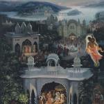 Мудрец Нарада посещает дворцы Кришны (Васуда д.)