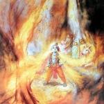 Кришна глотает лесной пожар (Джадурани д.д.)