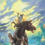 Кришна сражается с демоном Кеши
