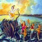 Кришна на танцует на змее Калие