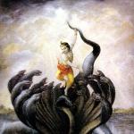 Кришна наказывает змея Калию 2 (Дхрити д.д.)