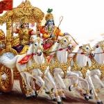 Арджуна и Кришна на колеснице 02