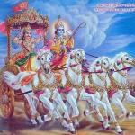 Арджуна и Кришна на колеснице 04