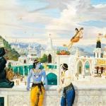 Narada visits Krishna and Balarama at Dwaraka