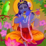 Гопал с флейтой (худ. Чайтанья Чандра Чаран дас)