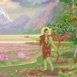 Рама и Лакшмана в изгнании (худ. Чайтанья Чандра Чаран дас)