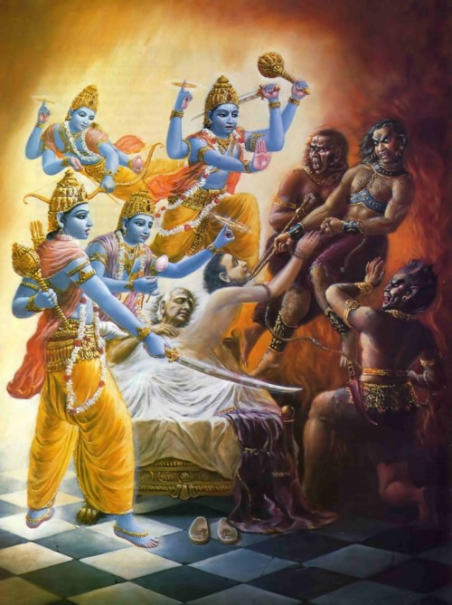 Ямадуты затягивают на шее грешника крепкую петлю и извлекают душу из тела