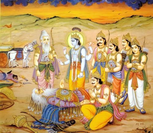 Bhishmadeva's departure