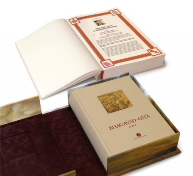 The deluxe edition Gita is surely a treasure to have